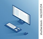 isometric computer peripherals  ... | Shutterstock .eps vector #462105154