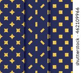 set of seamless pattern with... | Shutterstock .eps vector #462109966