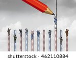 rigged system or unfair... | Shutterstock . vector #462110884