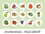 fruits and vegetables icons set ... | Shutterstock .eps vector #462118639