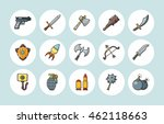 weapons icons set eps10 | Shutterstock .eps vector #462118663
