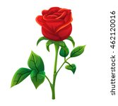 red rose cartoon style  vector... | Shutterstock .eps vector #462120016