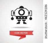 robot icon | Shutterstock .eps vector #462124186