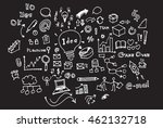 hand drawn business icon set | Shutterstock .eps vector #462132718