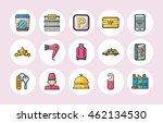 hotel and hotel services icons... | Shutterstock .eps vector #462134530