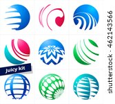 set of colorful vector sphere... | Shutterstock .eps vector #462143566