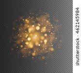 Abstract Golden Bokeh Lights...