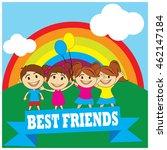friendship day illustration | Shutterstock .eps vector #462147184