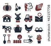 farm icon set | Shutterstock .eps vector #462157708