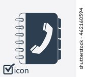 phone book flat icon. flat...