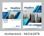 blue brochure layout design... | Shutterstock .eps vector #462161878