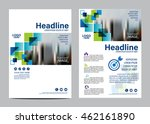 blue brochure layout design... | Shutterstock .eps vector #462161890