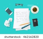 writer workplace vector... | Shutterstock .eps vector #462162820