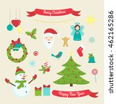 christmas and new year... | Shutterstock .eps vector #462165286