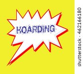 hoarding blue wording on speech ... | Shutterstock . vector #462166180