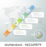 business concept infographic... | Shutterstock .eps vector #462169879
