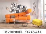 zero gravity sofa hovering in... | Shutterstock . vector #462171166