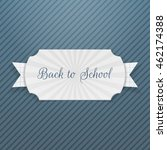 back to school text on tag with