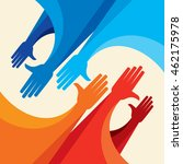 colorful up hands design for... | Shutterstock .eps vector #462175978