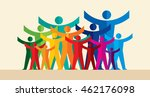 colorful peoples design for... | Shutterstock .eps vector #462176098