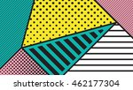 black and white pop art... | Shutterstock .eps vector #462177304