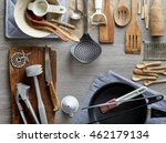 various kitchen utensils on... | Shutterstock . vector #462179134