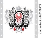 skull front view in center of...   Shutterstock .eps vector #462180979