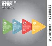infographic arrow timeline... | Shutterstock .eps vector #462188893