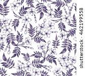 seamless background. jasmine... | Shutterstock . vector #462199558
