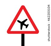uk low flying aircraft sign | Shutterstock .eps vector #462203104