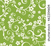 seamless pattern with leaves.... | Shutterstock .eps vector #462204604