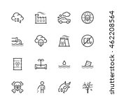 vector pollution icon set in... | Shutterstock .eps vector #462208564
