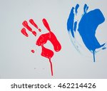 imprint of child's palm by a... | Shutterstock . vector #462214426