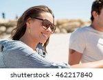 portrait of young woman on beach | Shutterstock . vector #462217840
