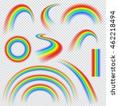realistic rainbows in different ... | Shutterstock .eps vector #462218494
