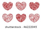 set of hearts with curves | Shutterstock .eps vector #46222045