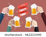 party time. people clinking... | Shutterstock .eps vector #462221440