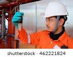 workers petroleum test sediment ...   Shutterstock . vector #462221824