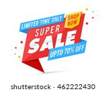 super sale with upto 70  off... | Shutterstock .eps vector #462222430