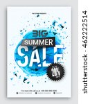 big summer sale flyer  sale... | Shutterstock .eps vector #462222514