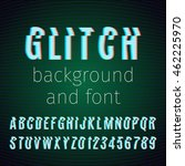 vector glitch background and... | Shutterstock .eps vector #462225970