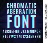 vector font with chromatic... | Shutterstock .eps vector #462226300