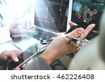 medical technology network team ... | Shutterstock . vector #462226408