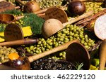 olives on the market in... | Shutterstock . vector #462229120