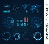 hud elements.sci fi futuristic... | Shutterstock .eps vector #462231310