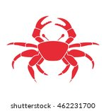 crab animal beach icon vector... | Shutterstock .eps vector #462231700