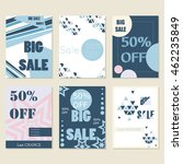 vector set with sale banners.... | Shutterstock .eps vector #462235849