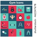 gym icons | Shutterstock .eps vector #462247678