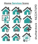 home services icons   Shutterstock .eps vector #462247690