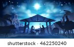 christmas nativity scene of... | Shutterstock .eps vector #462250240